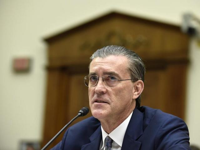 US Special Representative for Afghanistan and Pakistan Richard Olson testifies on Capitol Hill in Washington.