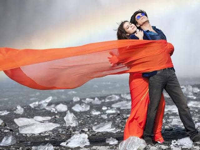 Shah Rukh Khan and Kajol, darling of the masses, in a song sequence from Dilwale.
