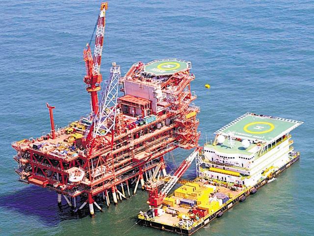 Reliance Industries Ltd's rig in KG-D6 block in the Krishna Godavari basin.