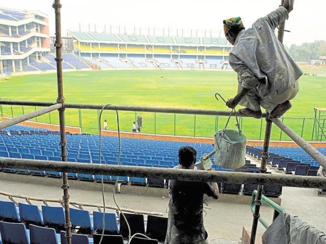 Feroz shah kotla cricket ground in New Delhi.