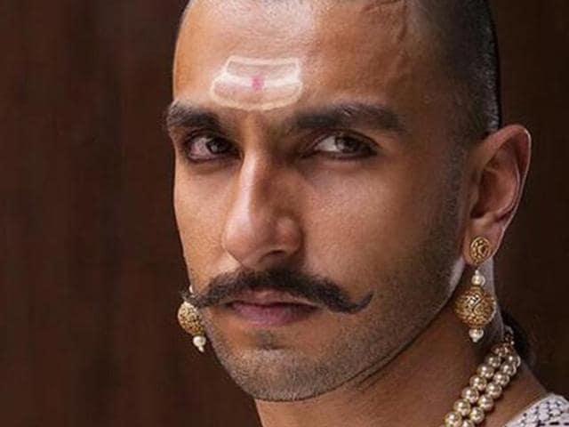 Ranveer Singh plays Maratha warrior Bajirao Peshwa in Bajirao Mastani.