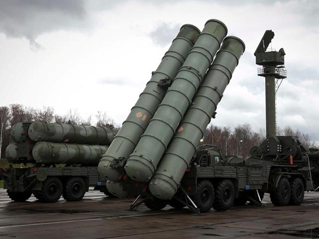 S-400 Triumf air defence missile systems that are capable of destroying incoming hostile aircraft, missiles and also drones within a range of up to 400 km.