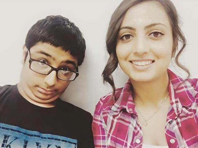 Armaan Singh Sarai (L)  was arrested from a Texas school and held for three days after a classmate complained he had threatened to blow up the building.