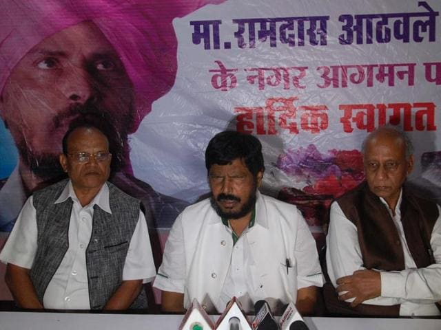 RPI president Ramdas Athawale (C) demanded that all government servants who speak out against reservation should be suspended. He made the remarks after Gujarat HC judge JB Pardiwala made a statement on the system.