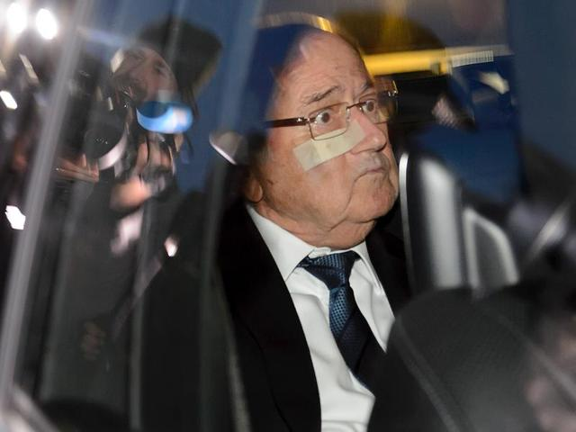 Former FIFA President Sepp Blatter reacts during a news conference.(Reuters Photo)