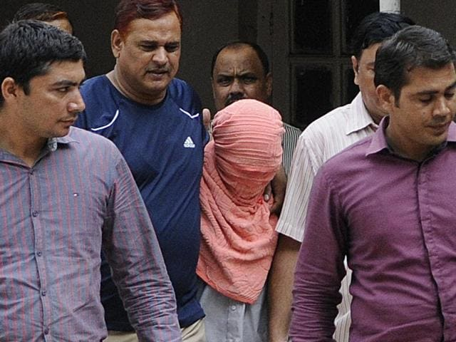 Six people, including the juvenile (pictured above), had been convicted for brutally raping and injuring a para-medical student in Delhi, leading to her death.(Sushil Kumar/HT File Photo)