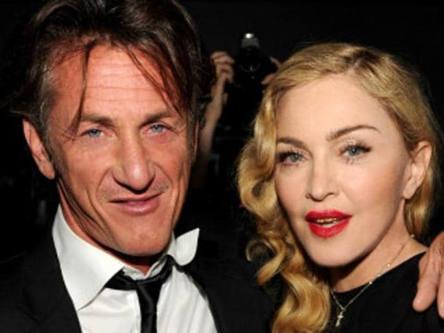A file picture of Sean Penn and Madonna.