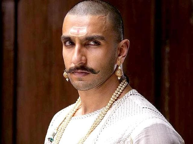 Ranveer Singh plays Bajirao in Sanjay Leela Bhansali's period saga. The film's shows were cancelled in Pune after protests.
