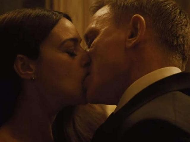 The Censor Board chopped the kissing scenes in the latest James Bond flick Spectre by half.