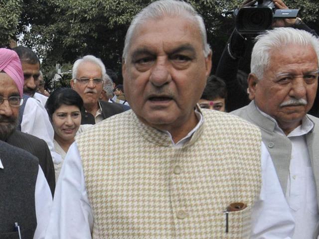 Former Haryana CM Bhupinder Hooda.(Hindustan Times)