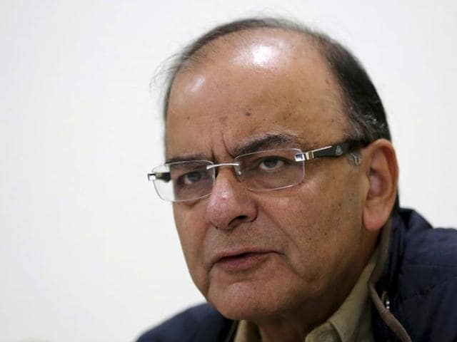 Union Finance Minister Arun Jaitley speaks in Lok Sabha during winter session of Parliament in New Delhi on Friday.