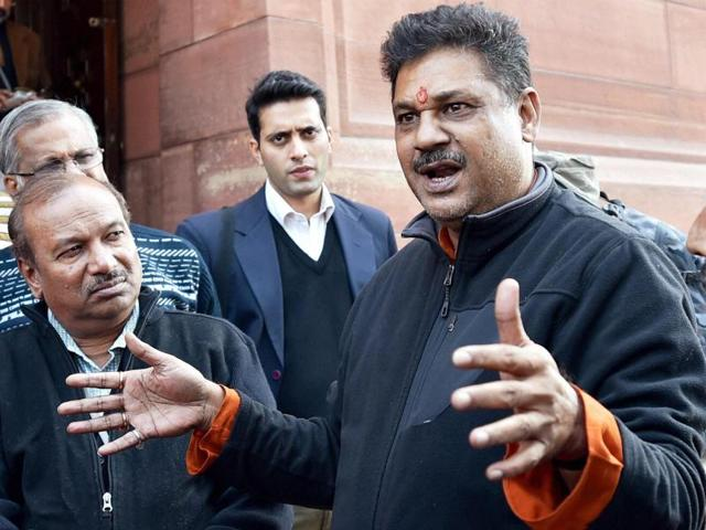 New Delhi: BJP member Kirti Azad at Parliament house during the winter session, in New Delhi.
