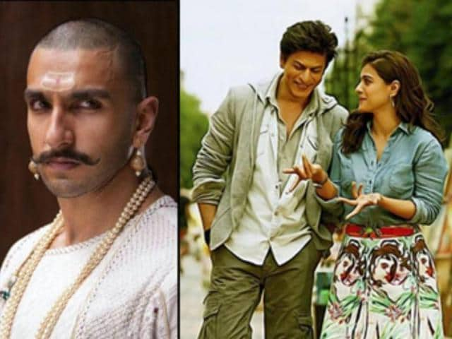 Ranveer Singh and Deepika seem to be losing out to Shah Rukh Khan and Kajol jodi on the box office.
