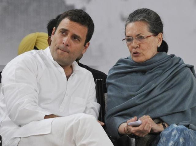 Congress president Sonia Gandhi has urged party leaders, office bearers and workers not to make a spectacle of her appearance along with Rahul Gandhi in a Delhi court in connection with the National Herald case on Saturday.(HT File Photo)