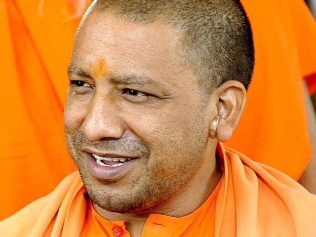 A file photo of controversial BJP lawmaker Yogi Adityanath.