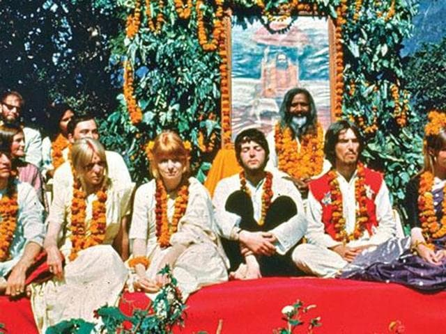 The Beatles came together at the Rishikesh ashram in the spring of 68. (Getty Images)