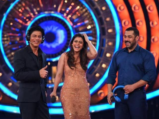 SRK, Kajol, Salman on the sets of Bigg Boss 9. (Colors TV)