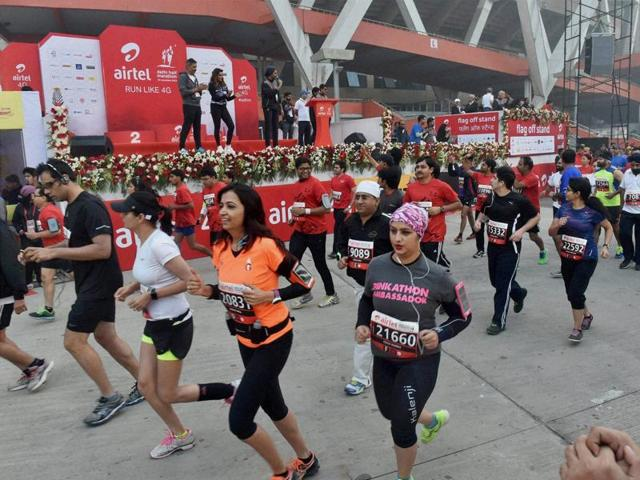 Two runaway girls are gearing up for the Mumbai marathon to raise money for the NGO Urja, which rescued them, so that the organisation can continue to help runaways like them.(PTI Photo)