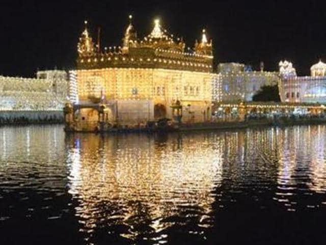 Harmandar Sahib (Golden Temple) in Amritsar.