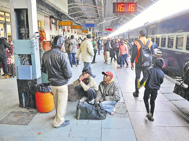 The blockade led to halting of trains running on the Jalandhar-Amritsar route.
