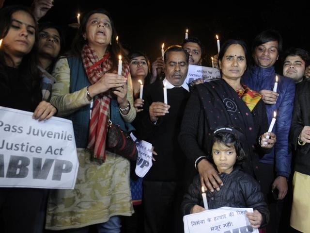 Nirbhaya's parents detained by the Delhi Police after they protested along with student activists against the release of juvenile convict of the 16 December Gang-rape at India Gate.