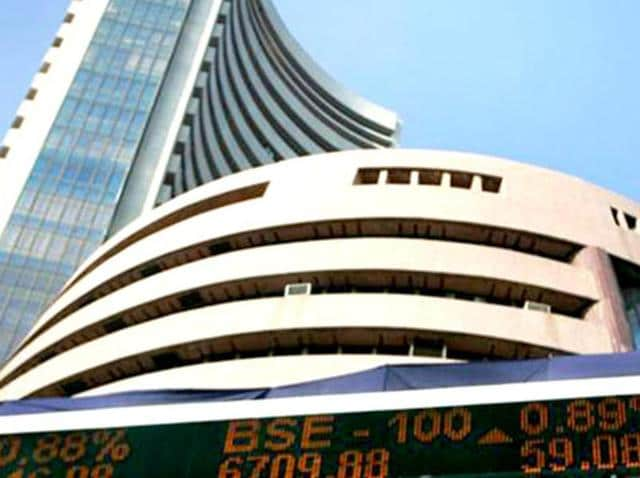 The BSE Sensex rose by almost 217 points in Monday's trade spurred by a global rally in banking, metal and PSU stocks.