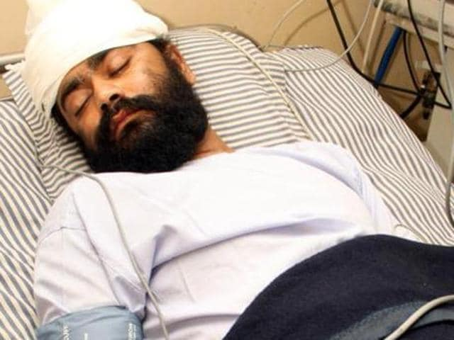 Jagmohan Singh (45) whom the Jalandhar blast accused Hardeep Singh Bajwa's family blamed for conning him into receiving two tiffin bombs