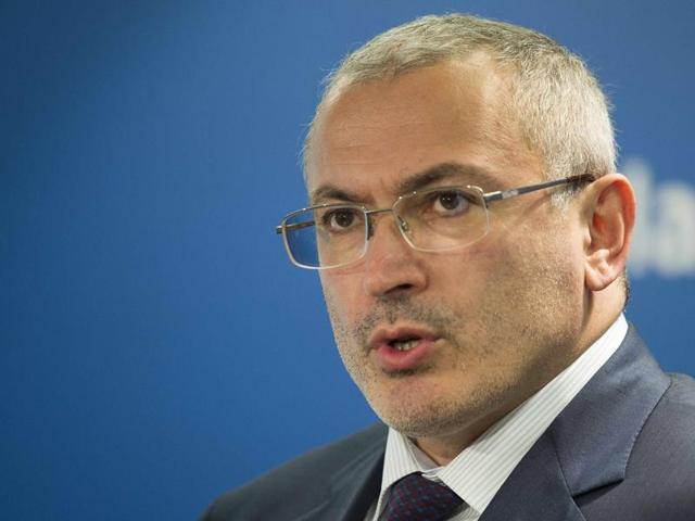 File photo of Kremlin critic and founder of Open Russia group Mikhail Khodorkovsky. On Tuesday, offices and apartment of Open Russia employees were raided, less than two weeks after Moscow charged the former tycoon with murder.(Reuters File Photo)