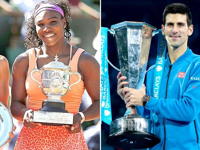 Serena Williams was named the Women's player of the year while Novak Djokovic was the Men's player of the year by the International Tennis Federation (ITF)(Reuters Photos)