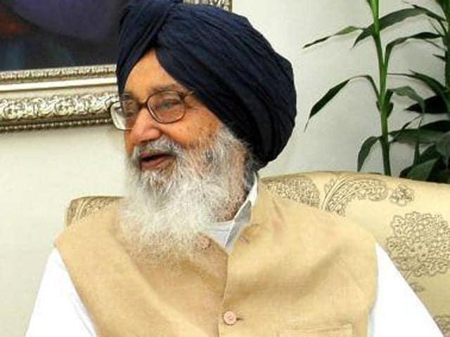 Punjab chief minister Parkash Singh Badal.(HT Photo)