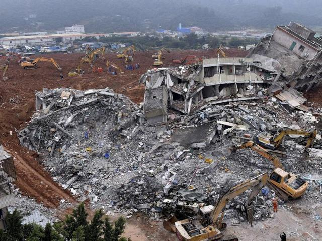 China landslide,China,Chinese industrial park