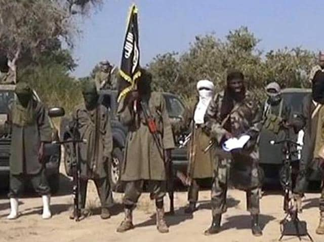 A file photo of Boko Haram militants.
