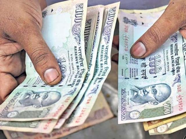 The rupee moved in a range of 66.35 and 66.27 per dollar during the day before closing at 66.33, showing a marginal gain of two paise or 0.03%.