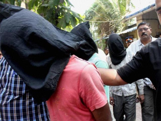 Hema Upadhyay Murder case accused Pradeep Rajbhar, Vijay Rajbhar and Azad Rajbhar being produced in a court in Mumbai on Saturday.
