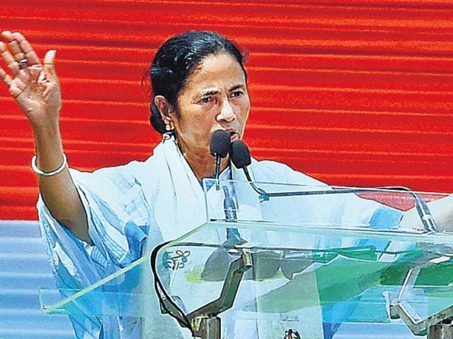 West Bengal chief minister Mamata Banerjee addresses Martyr's Day rally in Kolkata. (PTI file photo)