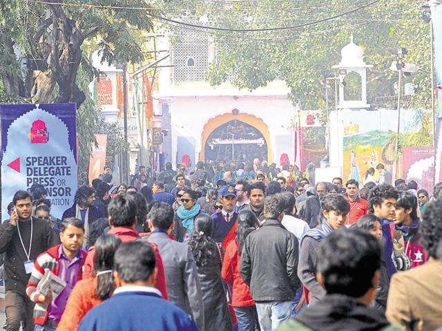 The JLF has become a must-visit event for writers and book lovers since its inaugural edition in 2006.(HT file photo)