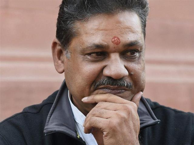 Kirti Azad at Parliament during the winter session in New Delhi on Monday.