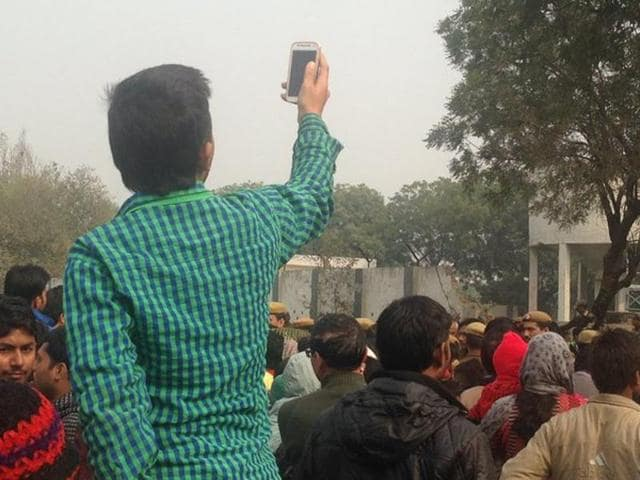 As soon as the news of the air crash spread, people from nearby areas rushed to the spot .  Some said those who reached the site early tried to take away some debris with them. Others clicked pictures, recorded videos and some took selfies with the wreckage.
