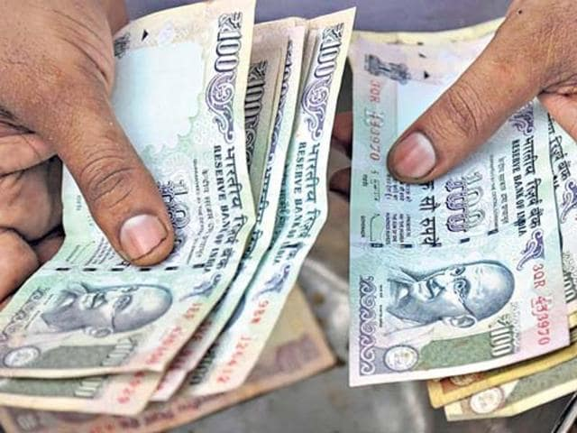 The rupee had lost 30 paise to close at 67.94 per dollar in Monday's trade on persistent demand for the American currency from banks and importers on the back of higher greenback overseas.