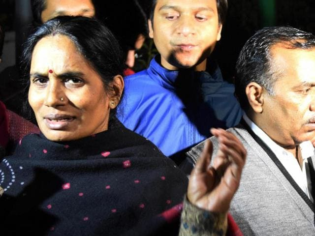 """""""Justice might have eluded my daughter but I am happy that with this law, the lives of several other daughters of this country would be saved,"""" said Asha Devi, the mother of the 23-year-old victim.(PTI)"""