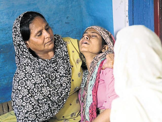 Mohammad Ikhlaq (55) was lynched and his son Danish was critically injured when a mob attacked their house on September 28 following rumours that they had slaughtered a cow.