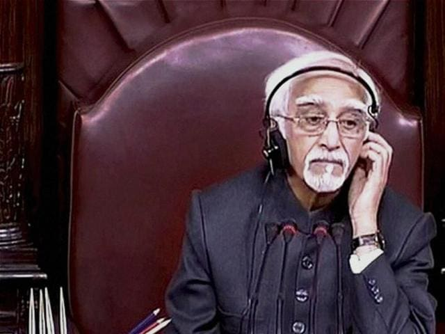 Chairman Hamid Ansari mentioned the crash of BSF's Super King aircraft crashing at Dwarka area near the airport.