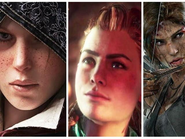 2015 was a year when women in video games were fleshed out characters with gender-neutral skills and strong personalities. From left: Assassin Creed: Syndicate's Evie Fyre, Sony's Horizon: Zero Dawn's Aloy, and the Rise of the Tomb Raider's reimagined Lara Croft.