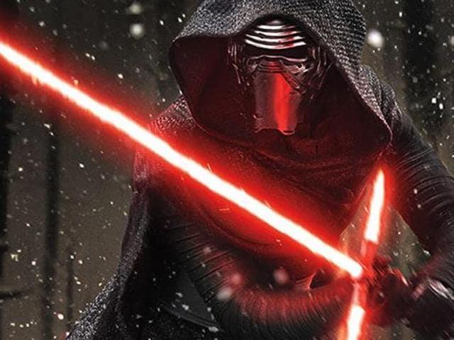 Adam Driver plays Kylo Ren in Star Wars: The Force Awakens.