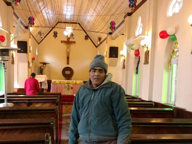 Abdul Rashid, gardener and caretaker at the Holy Family Catholic Church in Srinagar.