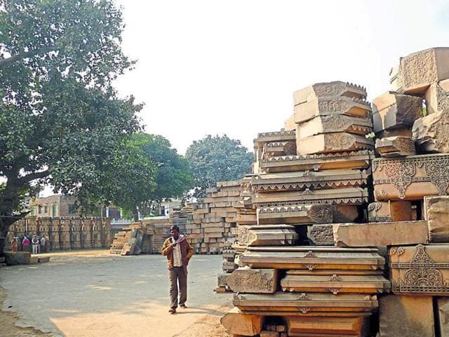 Arrival of a fresh load of stones from Rajasthan at the disputed Ram Janmabhumi-Babri Masjid site earlier this week once again swung the spotlight onto the temple controversy.