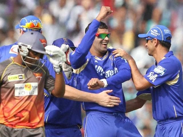 A file photo of Ajit Chandila while playing for Rajasthan Royals.