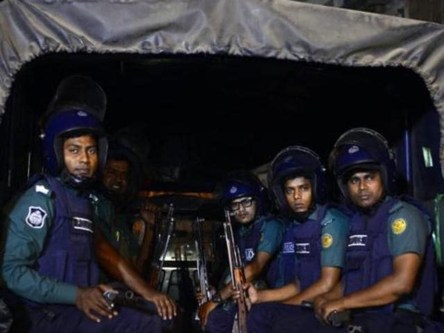 File Photo of Bangladeshi police officers.