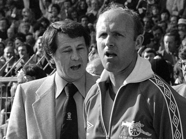 A file photo showing Don Howe, right, in London.