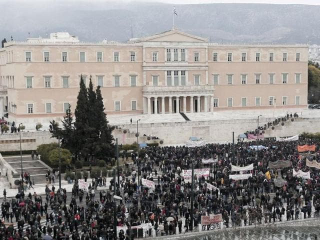 Two other rescues since 2010 worth a combined 240 billion euros, plus a private-sector debt writedown of more than 100 billion, had failed to stabilise the economy as Athens struggled to implement the austerity measures demanded in return for fresh funding.